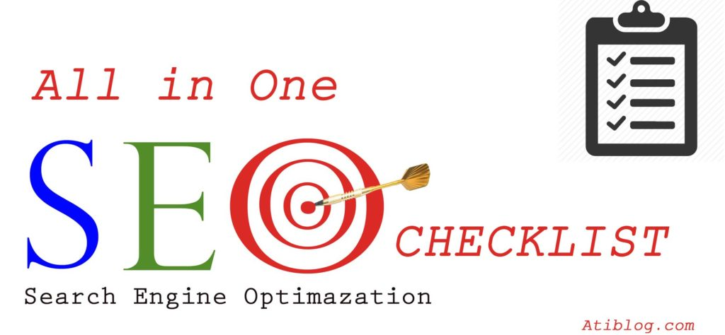 All in One SEO Checklist - Atiblog.com