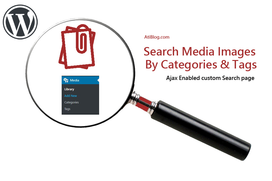 WordPress search attachment images by tags and categories