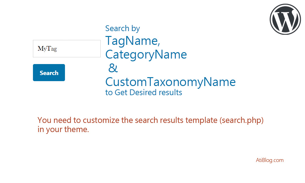 WordPress include tags, categories and taxonomies in search results